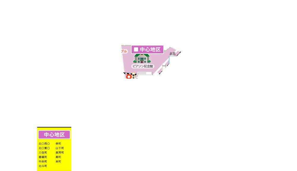 北見市中心地区