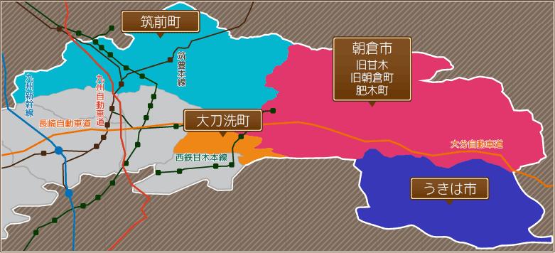 甘木本店エリアマップ