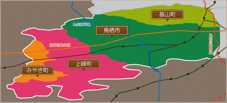 鳥栖駅前店エリアマップ